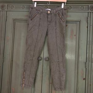 7 for all Mankind Army Green Cargo Pants 27